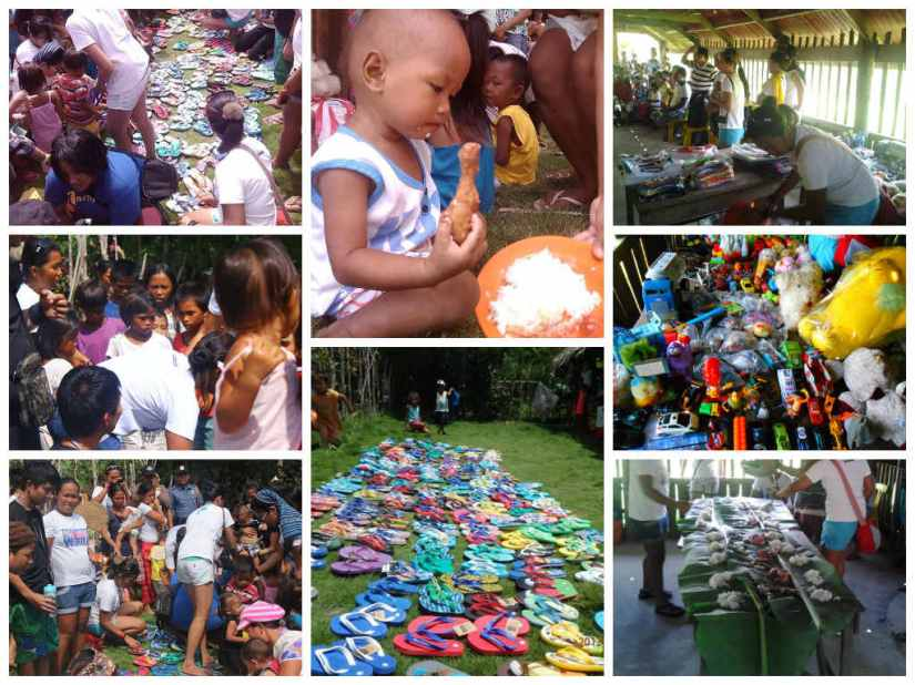 reaching out to the community | photo by wave 6 volunteers of project Jomalig